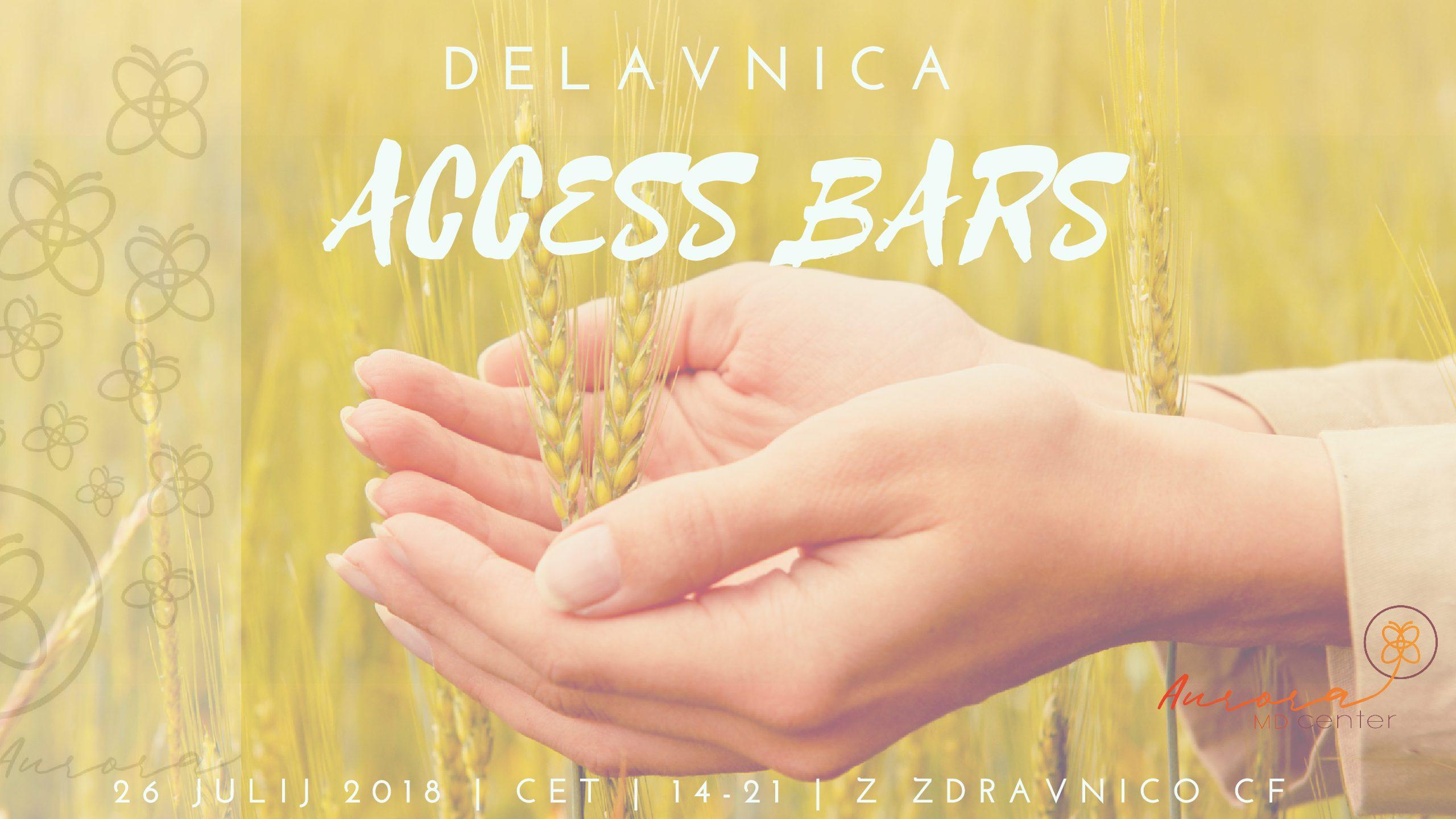 Access Bars Delavnica četrtek, 26. 7. 2018