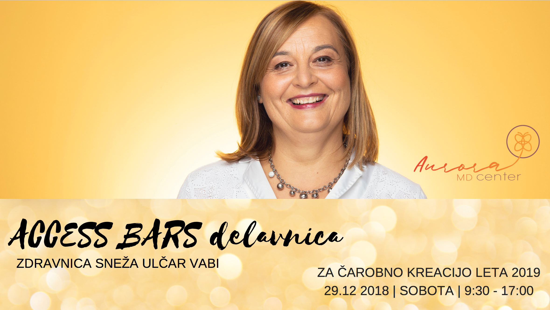 Access Bars delavnica z zdravnico, 29.12.2018, 9:30-17:00