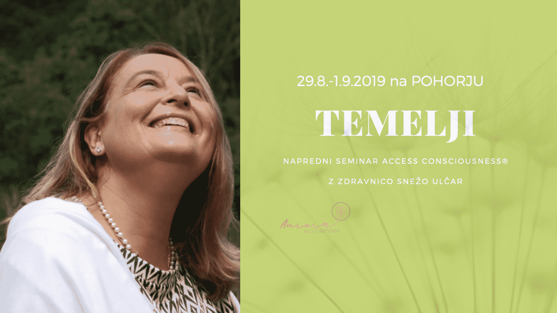 Seminar TEMELJI na POHORJU z dr. SNEŽO ULČAR