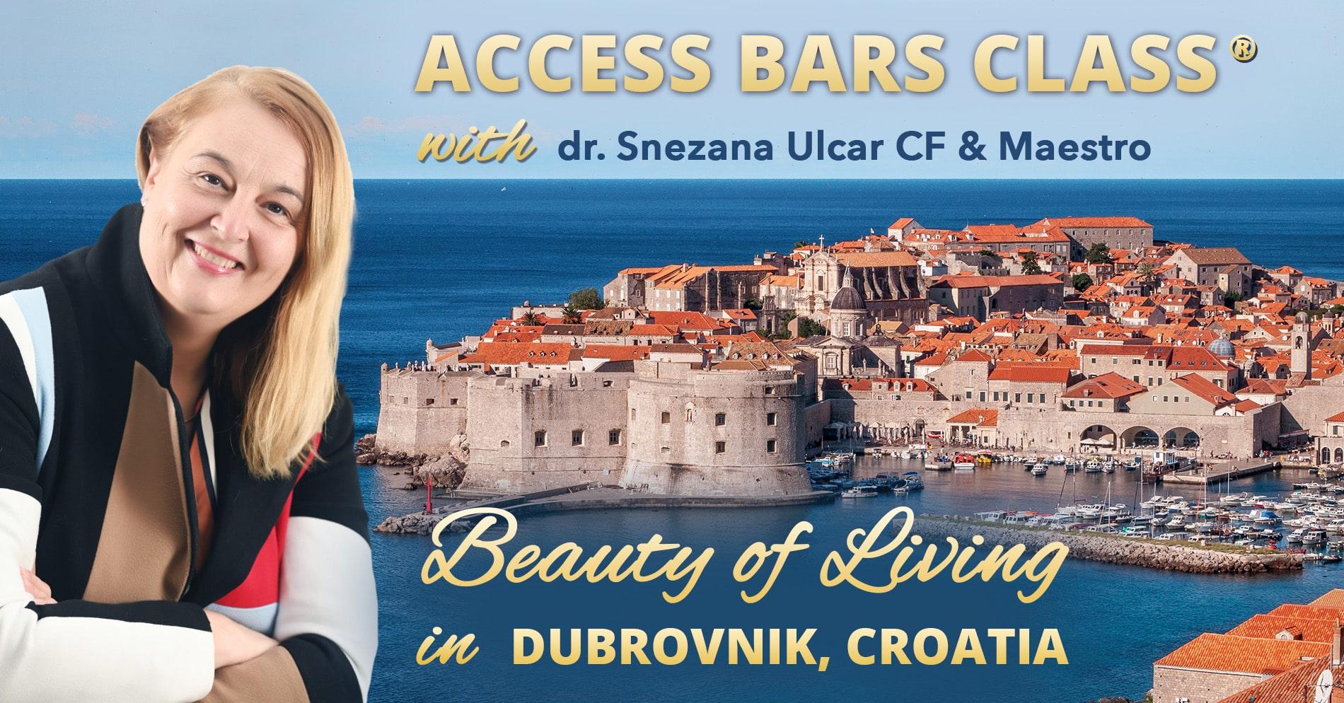 Access Bars delavnica s Snežo Ulčar, dr. med., v Dubrovniku na Hrvaškem